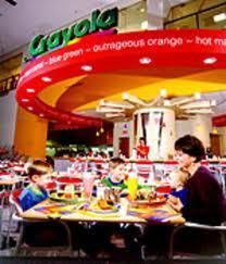 Crayola Cafe at the Crown Center in Kansas City. You can also visit the crayola creation center where it shows you how crayons are made! Very interactive! Crown Center, Kansas City Missouri, Spring Break, Summer, Places To Go, Around The Worlds, Vacation, Orange Salad, Field Trips