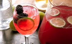 This punch recipe is the perfect summer wine cocktail: muddled blackberries, lime juice, vodka, and rosé.