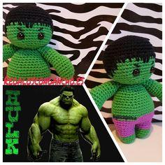 #regalosoriginales #regalospersonalizados #handmade #ganchillo #crochet #hulk #amigurumi by regaloscongancho
