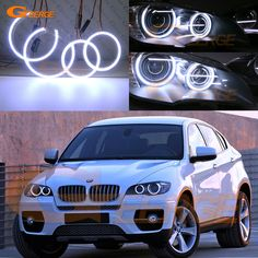 Find More Car Light Assembly Information about For BMW X6 E71 E72 X6M E70 X5M 2008 2014 Xenon headlight Excellent Ultra bright illumination COB led angel eyes kit,High Quality led angel,China led angel eyes Suppliers, Cheap xenon headlight from Geerge-Tech on Aliexpress.com