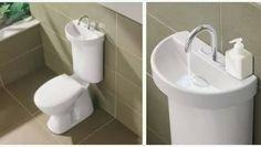 Que tal esta idea??: WC Suite, de la firma Caroma, es un inodoro con un lavamanos incorporado en la tapa del tanque cisterna