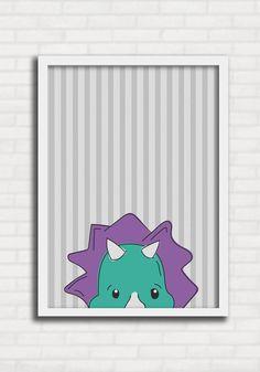 08e144533 Poster Infantil p  Meninos - Dinossauros Listras 1 - Just Lia TO8026.  Quadros Para CriançasDesenhos ...