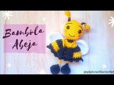Crochet Bee, Learn To Crochet, Cute Crochet, Crochet Dolls Free Patterns, Crochet Designs, Knitting Designs, Crochet Hook Sizes, Crochet Hooks, Crochet Keychain