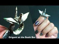 Origami Money Crane Ring (Instructions) Dollar Origami, Moneygami - YouTube
