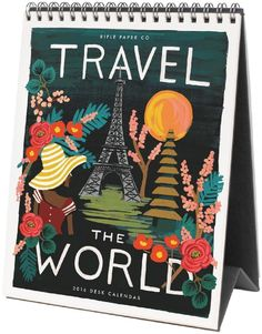Rifle Paper Co. 2016 Travel the World Calendar