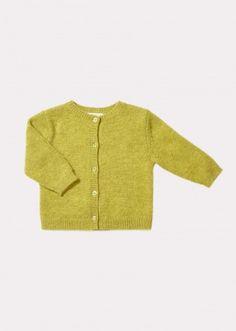 Andulasite Baby Cardigan, Lime