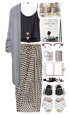 """""""Write to me"""" by vv0lf ❤ liked on Polyvore featuring Thakoon, H&M, Paisie, Aesop, Louis Vuitton and L'Occitane"""