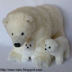 Polar Bear and Baby - FREE Sewing Pattern and Tutorial