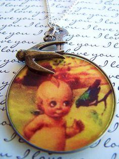 Kewpie doll necklace $22