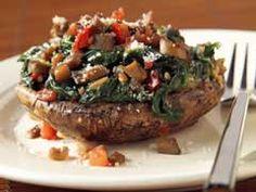 Fast & Easy Dinner: Spinach-Stuffed Portobello Mushrooms
