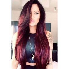 Red Hair Color 2015 Latest Hairstyles ❤ liked on Polyvore featuring beauty products and haircare