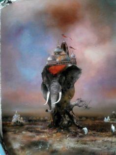 Bernard Louedin Elephant | Art-L'Inde d'Antan by Bernard Louedin. Make me an offer I can't refuse ...