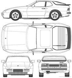 Porsche 944 template