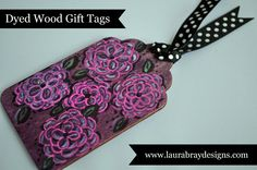 Dyed Wood Gift Tags | Rit Dye Fabric Dyeing