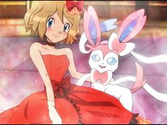 Serena and her Sylveon ♡ I give good credit to whoever made this