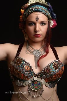 Kristina of Divine Chaos Tribal®, LLC / photo by Ron Brewer Images / Tribal fusion belly dance www.dc-tribal.com
