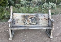 SOLD-Accepting Orders Antique Painted Church Pew Victorian Bench Gothic Furniture Ornate Wood Bench with Back White Chippy Paint Bench Victorian Benches, Antique Bench, Antique Farmhouse, Country Coffee Table, Shabby Chic Coffee Table, Painted Benches, Painted Coffee Tables, Steampunk Furniture, Gothic Furniture
