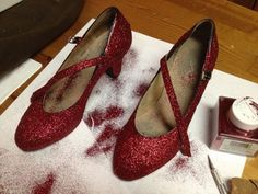 DIY Ruby Slippers. How to make the Ruby Slippers from the Wizard of Oz