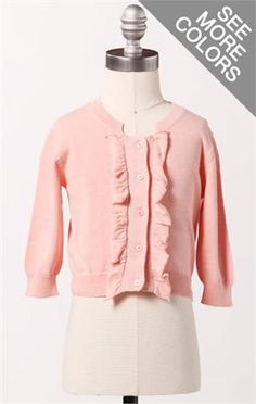 I love little girl clothes that look like little girl clothes. So sweet.