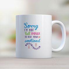 Coffee Mug Emotional Roller Coaster Mug Funny Coffee Mug Funny Coffee Cup Ceramic Mug Sarcasm Mug Sarcastic Humor Mug (MUG62) by MixCreatives