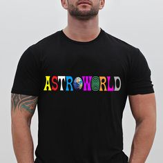fc8be8a0cb9b Travis Scott Astroworld New Fashion Black T Shirt Size S-5XL #Handmade  #BasicTee