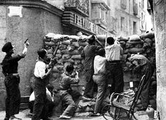 The Battle of Alcazar. 1936. The soldiers of the republican forces fighting for Alcazar of Toledo, in September 1936.