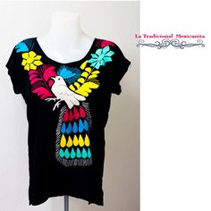 Mexican Blouse Oaxaca Casual Outfit