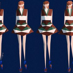 Inspired by Delpozo collection - Design by Monica Ahanonu