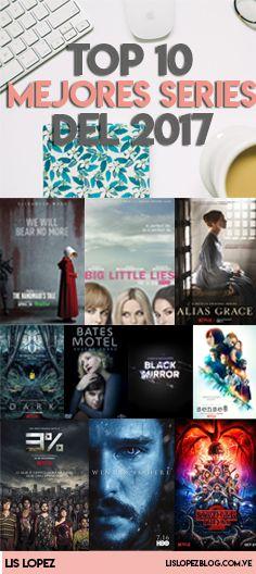 Conoce las mejores series del 2017:  The handmaid's tale, big little lies, Alias Graces, Dark, Bates Motel, Sense8, 3%, GoT y Stranger Things.  #series #tvtime #netflix #recomendacion #libros #blogger #latinblogger #top #top10 #ST #Hulu Big Little Lies, Netflix 2017, Blogging, Tv Times, Stranger Things, Hulu Tv, Tv Series, Bates Motel, Movie Posters