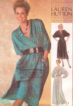 1980s Lauren Hutton Simplicity Sewing Pattern 6640 by CloesCloset, $12.00