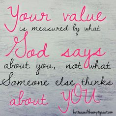 God is all that matters. God Loves you and that is everything!