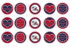 #DIY Jewelry New England Patriots Bottle Cap Images Collage Instant Downlaod $2.00 #BottleCapsByEli
