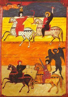 The Four Horsemen of the Apocalypse, Facundus Beatus Codex, Beatus of Liébana, Spain