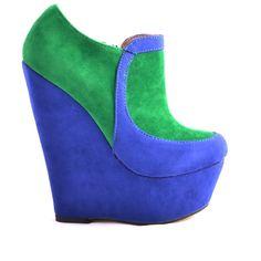 BOTINE CU PLATFORMA GREEN BLUE