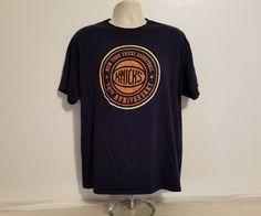 New York Knicks Basketball 70th Anniversary Adult Blue XL T-Shirt #Delta #NewYorkKnicks