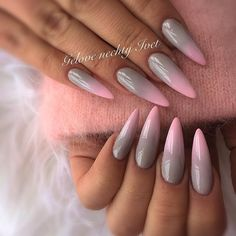 "69 Likes, 1 Comments - Iveta (@ivet_nails) on Instagram: ""#ombre #ombrenails #pinki #pinky #puppy #pignails #phreshink #greynails #grey #swarovskinails…"""