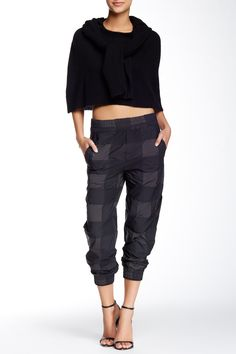 Band of Outsiders | Nylon Check Track Pant | sponsored by Nordstrom Rack