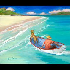 """Pilot"" by Shari Erickson Caribbean Homes, Caribbean Culture, Caribbean Art, House Painting Pictures, Pictures To Paint, House Paintings, Street Art, Boat Painting, Fabric Painting"