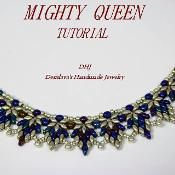 Instructions for necklace Mighty Queen 1 - via @Craftsy