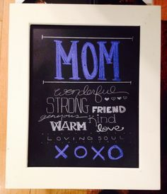 Mothers Day Chalkboard Gifts