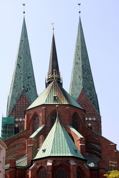 Marienkirche Luebeck Kirchen, Traditional House, Towers, Barcelona Cathedral, City, Building, Baking Stone, Tours, Buildings