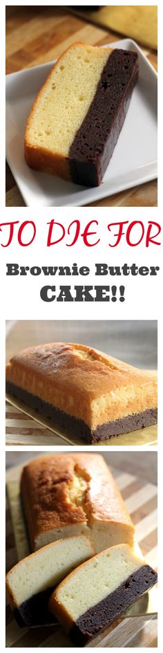 Brownie butter cake, thick brownie and rich butter cake combined into one decadent and to-die-for cake! Bake it today with this super easy and fail-proof recipe Baking Recipes, Cake Recipes, Dessert Recipes, Yummy Treats, Sweet Treats, Yummy Food, How Sweet Eats, Let Them Eat Cake, No Bake Cake