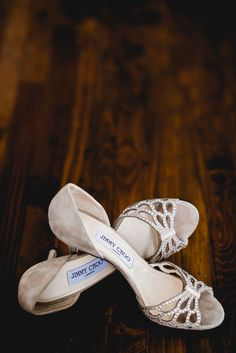 Jimmy Choo Bridal Shoes - Barney Walters Photography & Second Shooter, The London Wedding Film Co. | Blush & Gold, Lake Como, Italian Destination Wedding | Tatyana Mereny Wedding Dress | Twobirds Bridesmaid Dresses