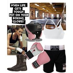 """When life gets tough, put on your boxing gloves."" by kathleencanda on Polyvore"
