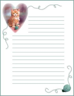 Free printable notepaper from Rainbow Row Graphics
