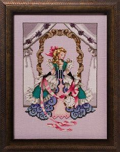 """COMPLETE XSTITCH KIT MATERIALS  /""""GYPSY MERMAID MD126/"""" by Mirabilia"""