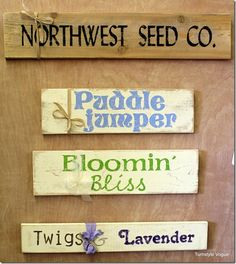 Handpainted Spring Signs At Turnstyle Vogue