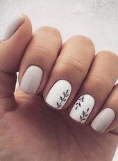 40 hübsche und einfache kurze Nagelideen für den Herbst / Winter 2019 HCYlife Blog  #hcyli   Winter Nails 2019