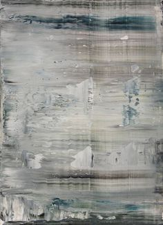 abstract N° 1063, Koen Lybaert, oil on paper, morose