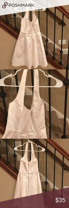 Guess by Marciano white halter dress White halter - great quality in fabric and worn once size 00 Guess by Marciano Dresses Strapless